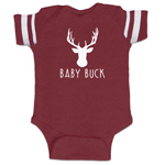 Baby Buck Deer Hunting Funny Baby Boy Jersey Bodysuit Infant