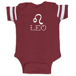 Leo Zodiac Sign Baby Boy Jersey Bodysuit Infant