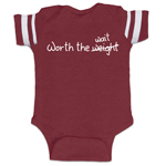 Worth The Weight Wait Funny Baby Boy Jersey Bodysuit Infant