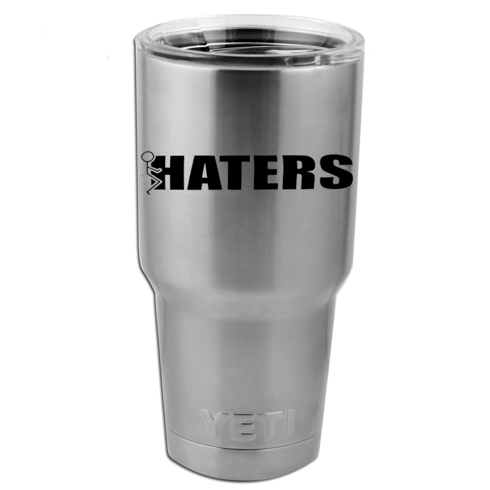 Funny Humping Stick Figure F*ck Haters Vinyl Sticker Decal for Yeti Mug Cup Thermos Pint Glass (DECAL ONLY, NO CUP)