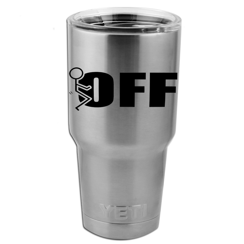 Funny Humping Stick Figure F*ck Off Vinyl Sticker Decal for Yeti Mug Cup Thermos Pint Glass (DECAL ONLY, NO CUP)