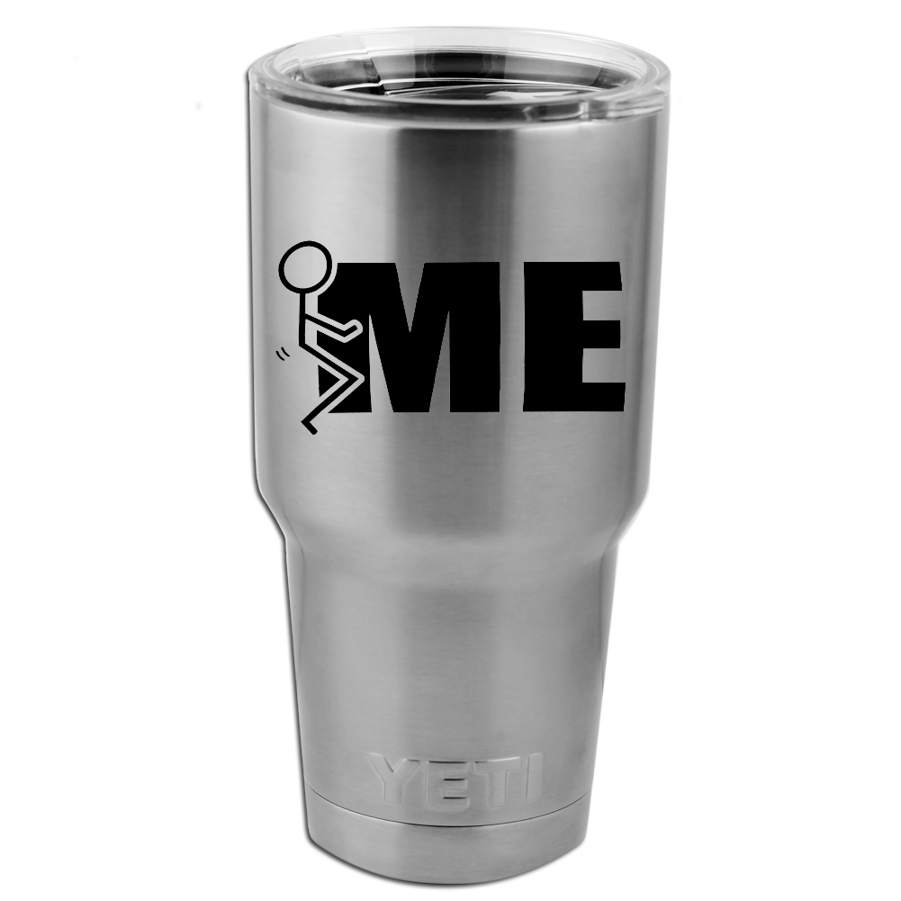 Funny Humping Stick Figure F*ck Me Vinyl Sticker Decal for Yeti Mug Cup Thermos Pint Glass (DECAL ONLY, NO CUP)