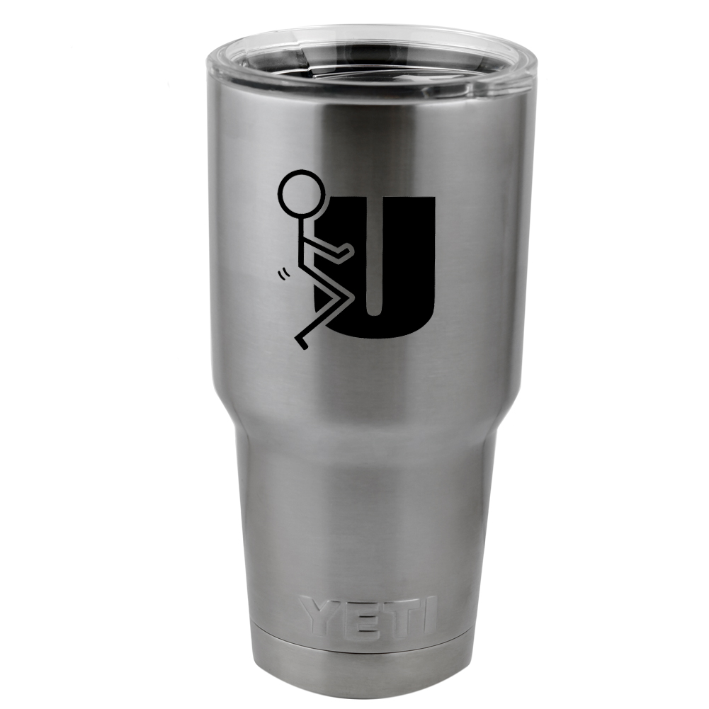 Stick Figure Humping F U Vinyl Sticker Decal for Yeti Mug Cup Thermos Pint Glass (DECAL ONLY, NO CUP)