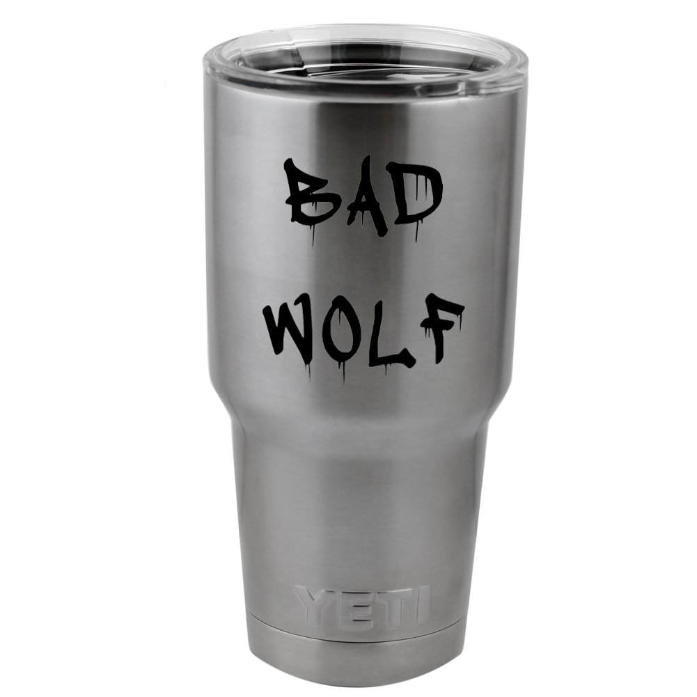 Dripping Graffiti DW Inspired Bad Wolf Vinyl Sticker Decal for Yeti Mug Cup Thermos Pint Glass (DECAL ONLY, NO CUP)