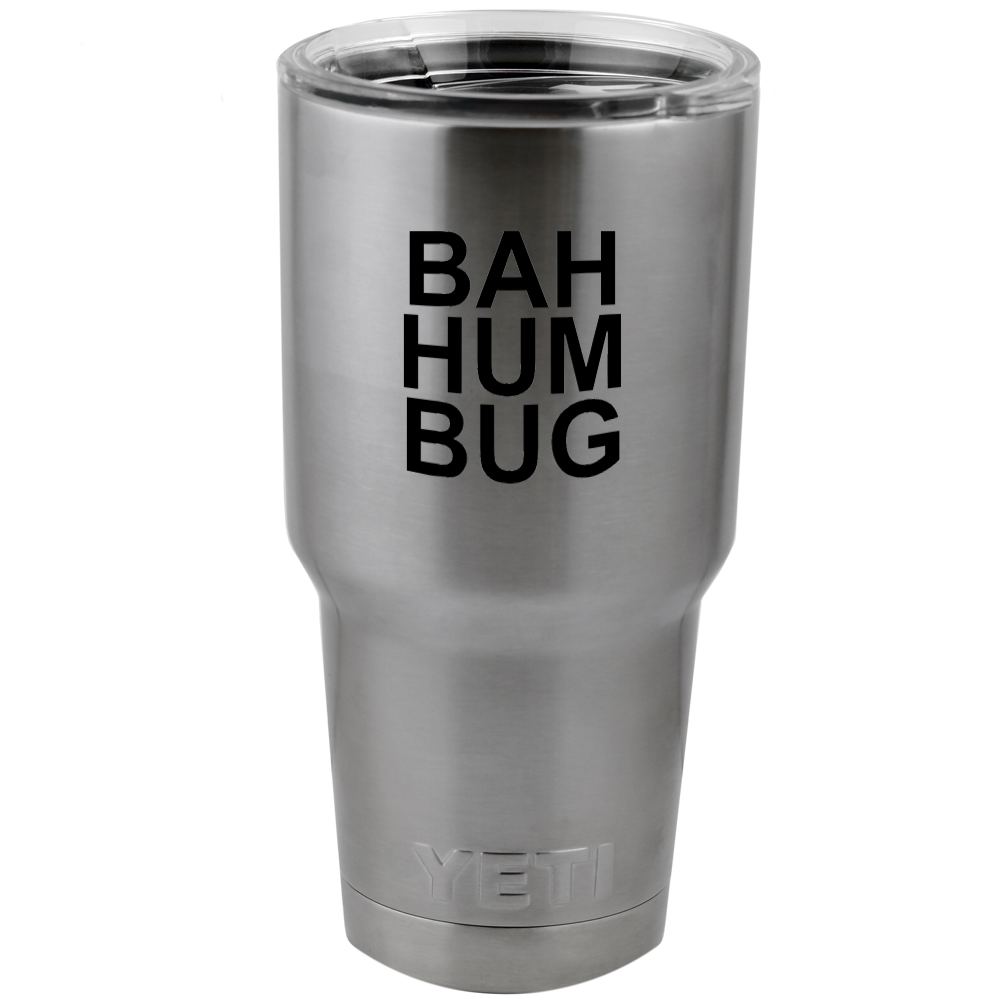 Funny Scrooge Bahhumbug Bah Hum Bug Vinyl Sticker Decal for Yeti Mug Cup Thermos Pint Glass (DECAL ONLY, NO CUP)