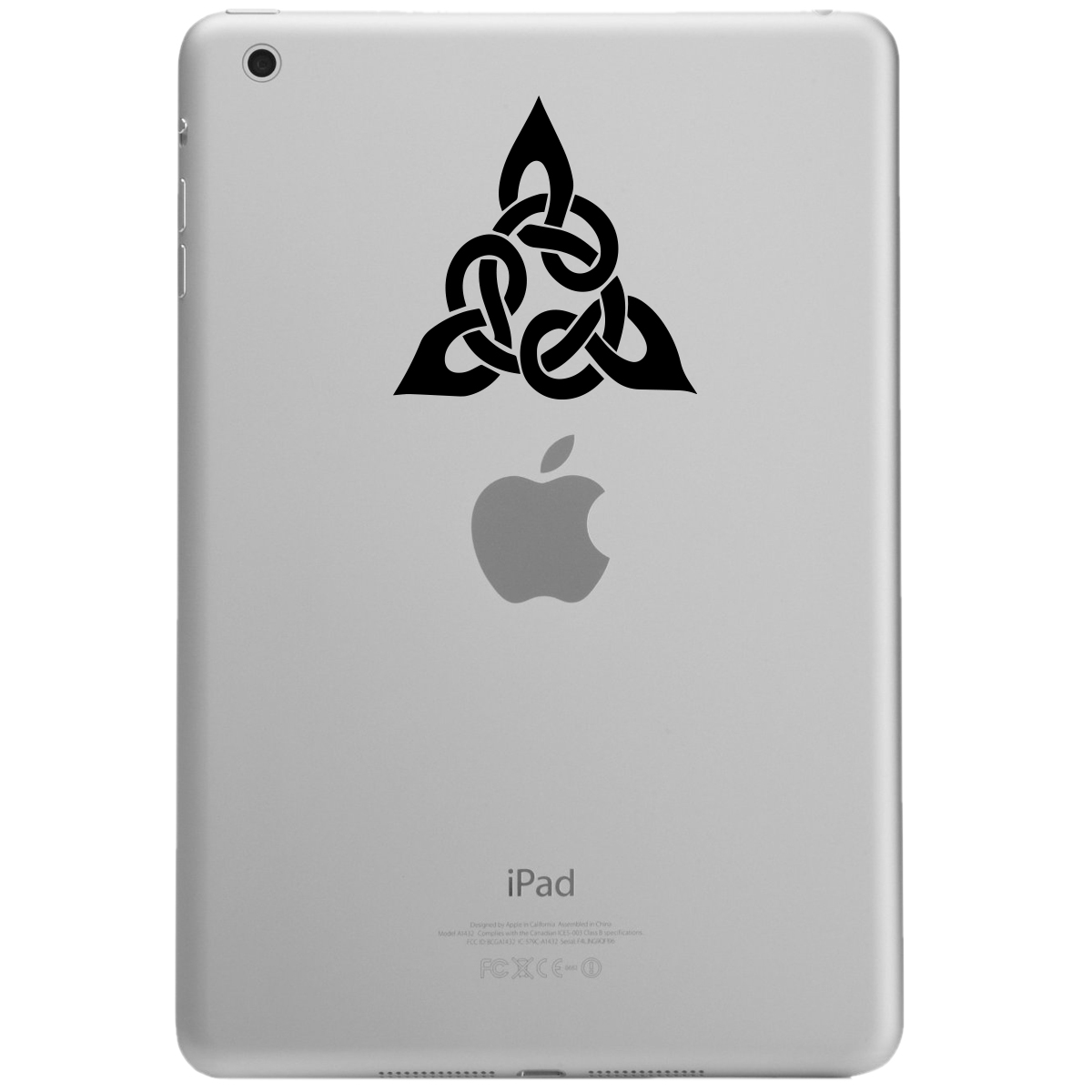 Triangular Celtic Cross Knot iPad Tablet Vinyl Sticker Decal