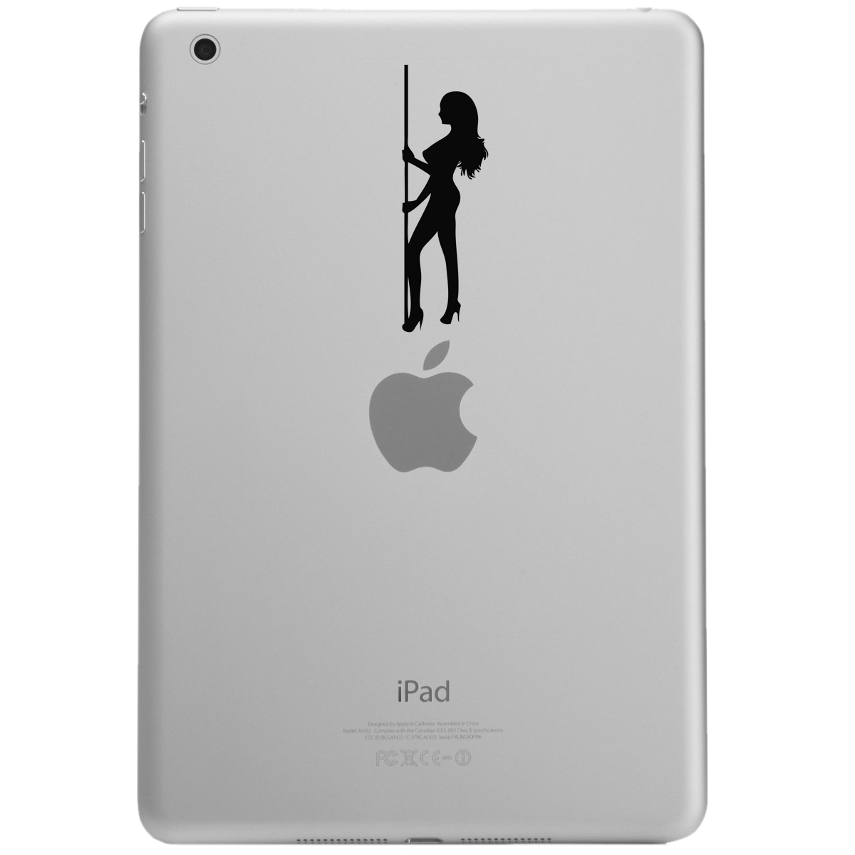 Sexy Stripper Pole Girl Silhouette iPad Tablet Vinyl Sticker Decal