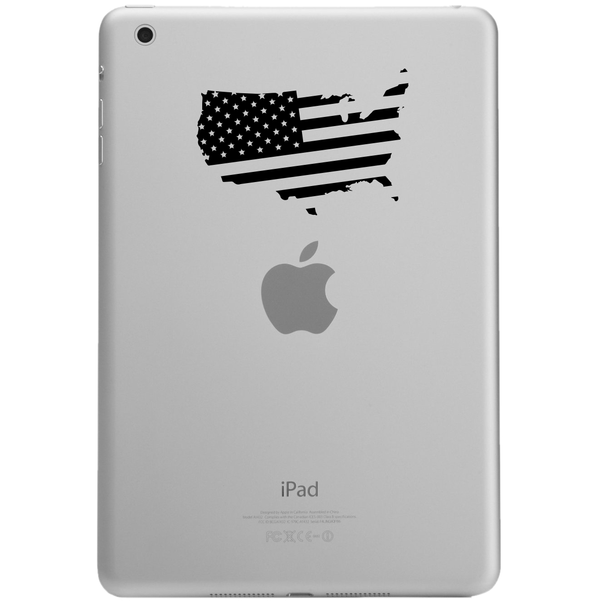 Patriotic USA Country American Flag iPad Tablet Vinyl Sticker Decal