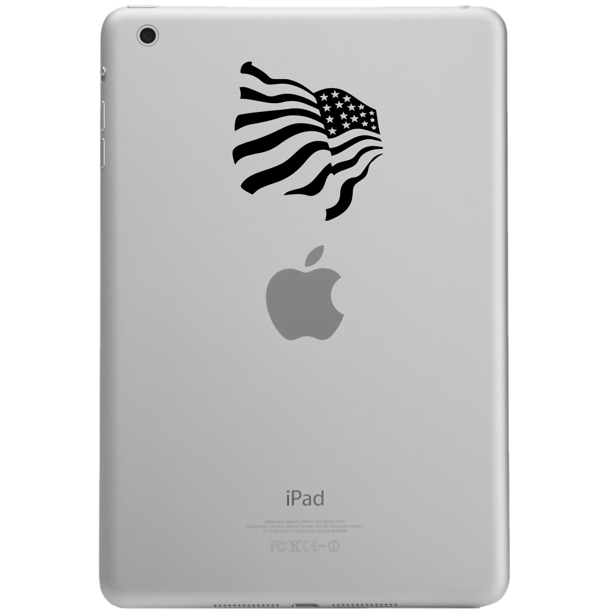 Patriotic Waving American USA Flag iPad Tablet Vinyl Sticker Decal