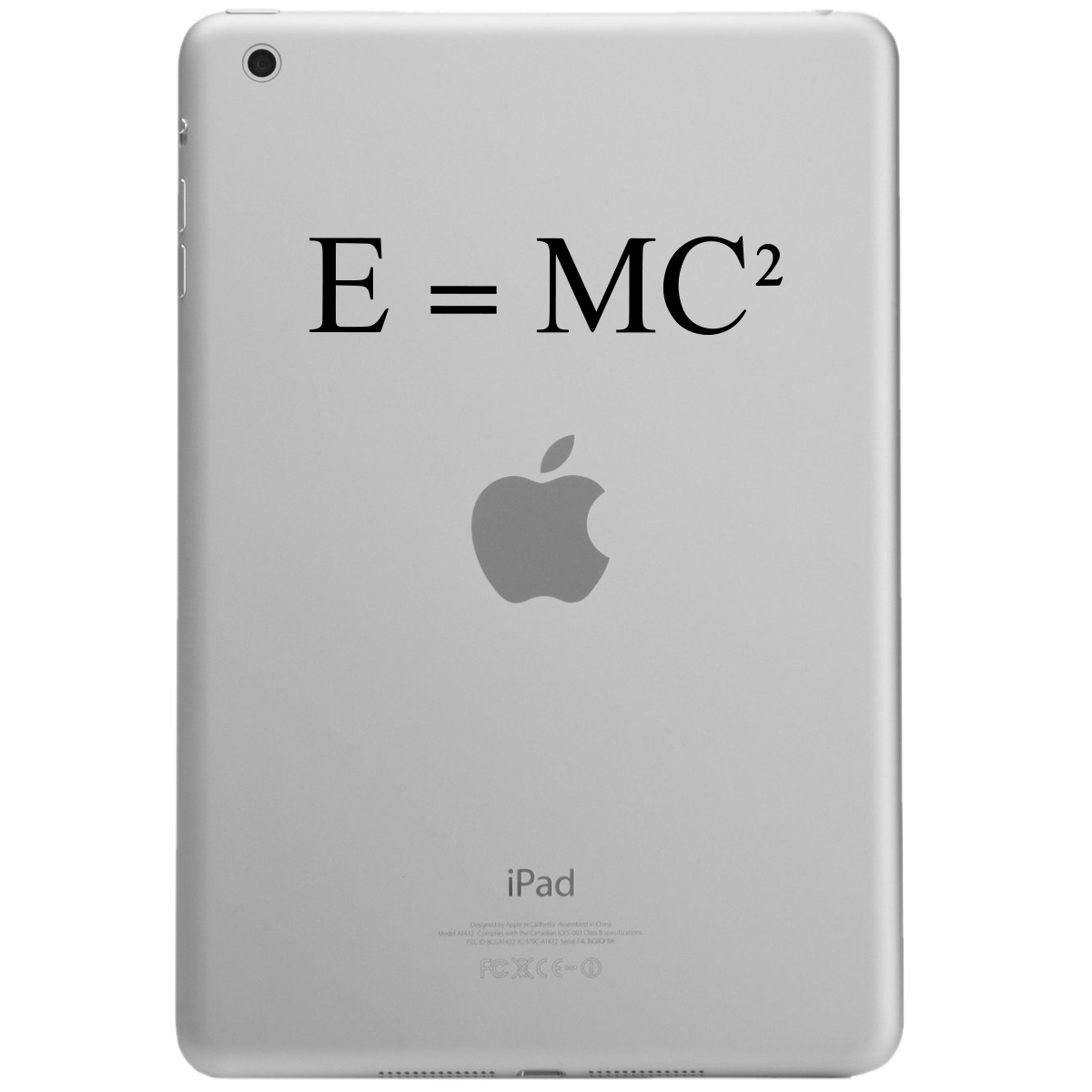 E=MC2 Einstein Math Equation iPad Tablet Vinyl Sticker Decal