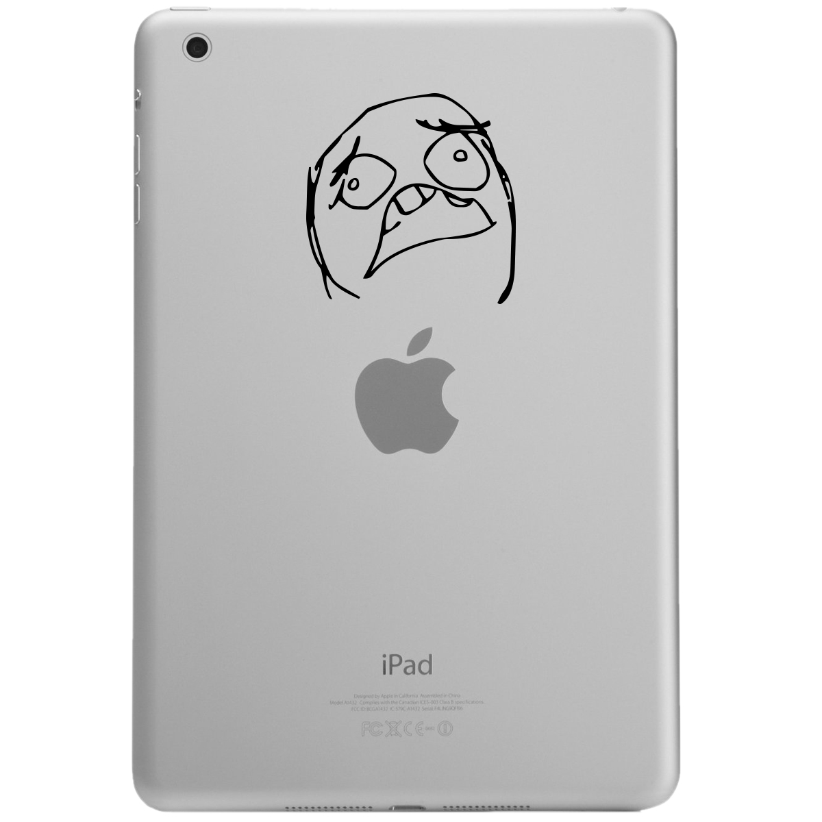 Scared Funny Meme Face iPad Tablet Vinyl Sticker Decal