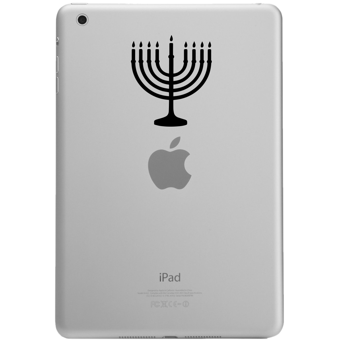 Jewish Hanukkah Menorah Silhouette iPad Tablet Vinyl Sticker Decal
