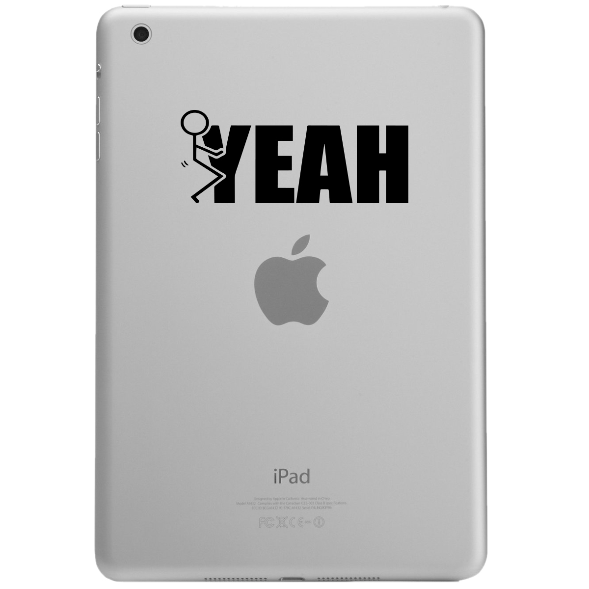 Funny Humping Stick Figure F*ck Yeah iPad Tablet Vinyl Sticker Decal
