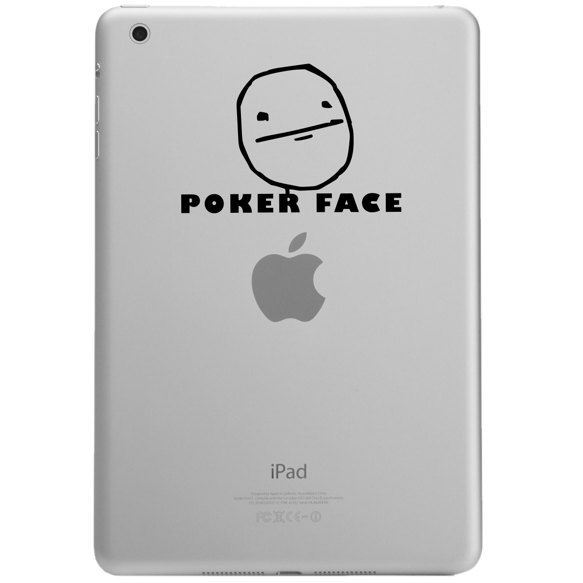 JDM Funny Poker Face Cartoon Meme iPad Tablet Vinyl Sticker Decal