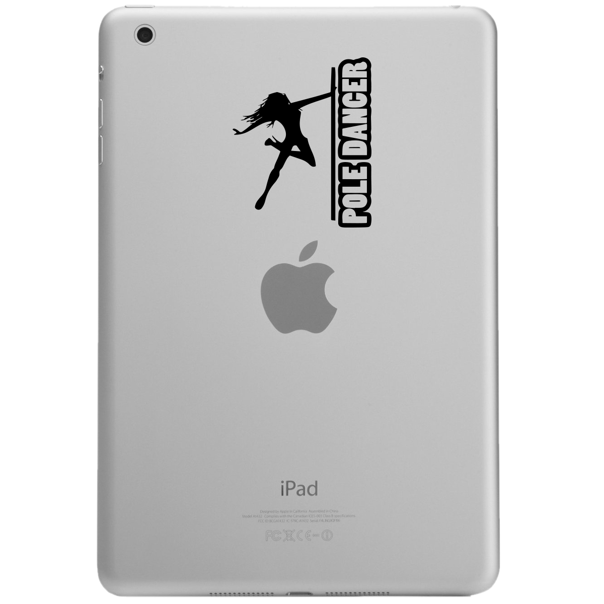 Sexy Pole Dancer Girl Silhouette iPad Tablet Vinyl Sticker Decal