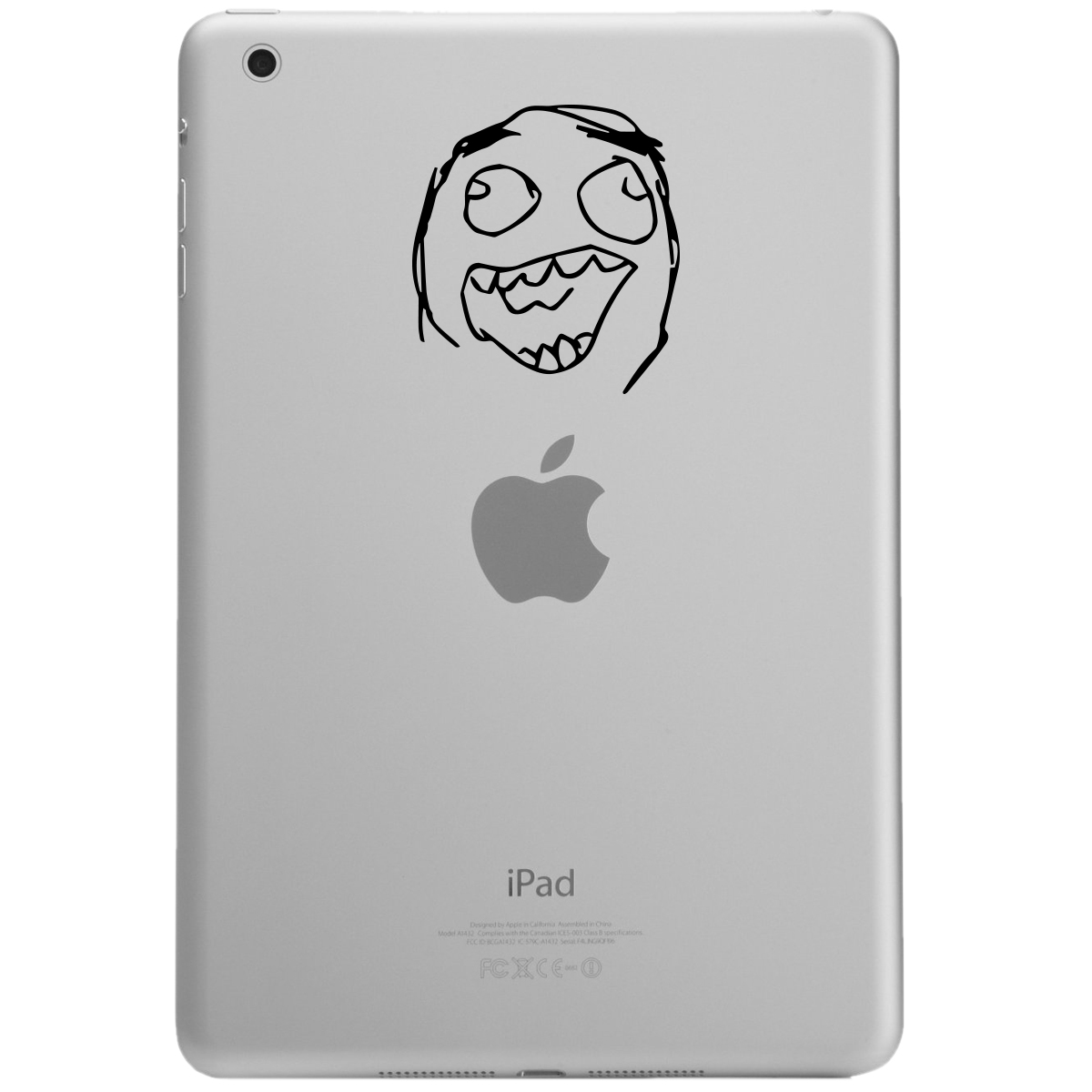 Funny Laughing Meme Face iPad Tablet Vinyl Sticker Decal