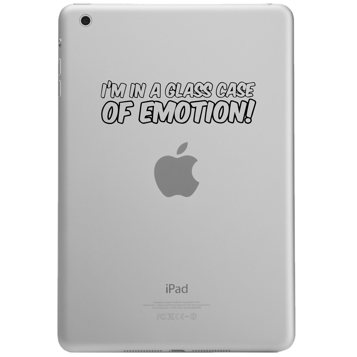 Funny Ron Burgundy Quote I'm in a Glass Case of Emotion iPad Tablet Vinyl Sticker Decal