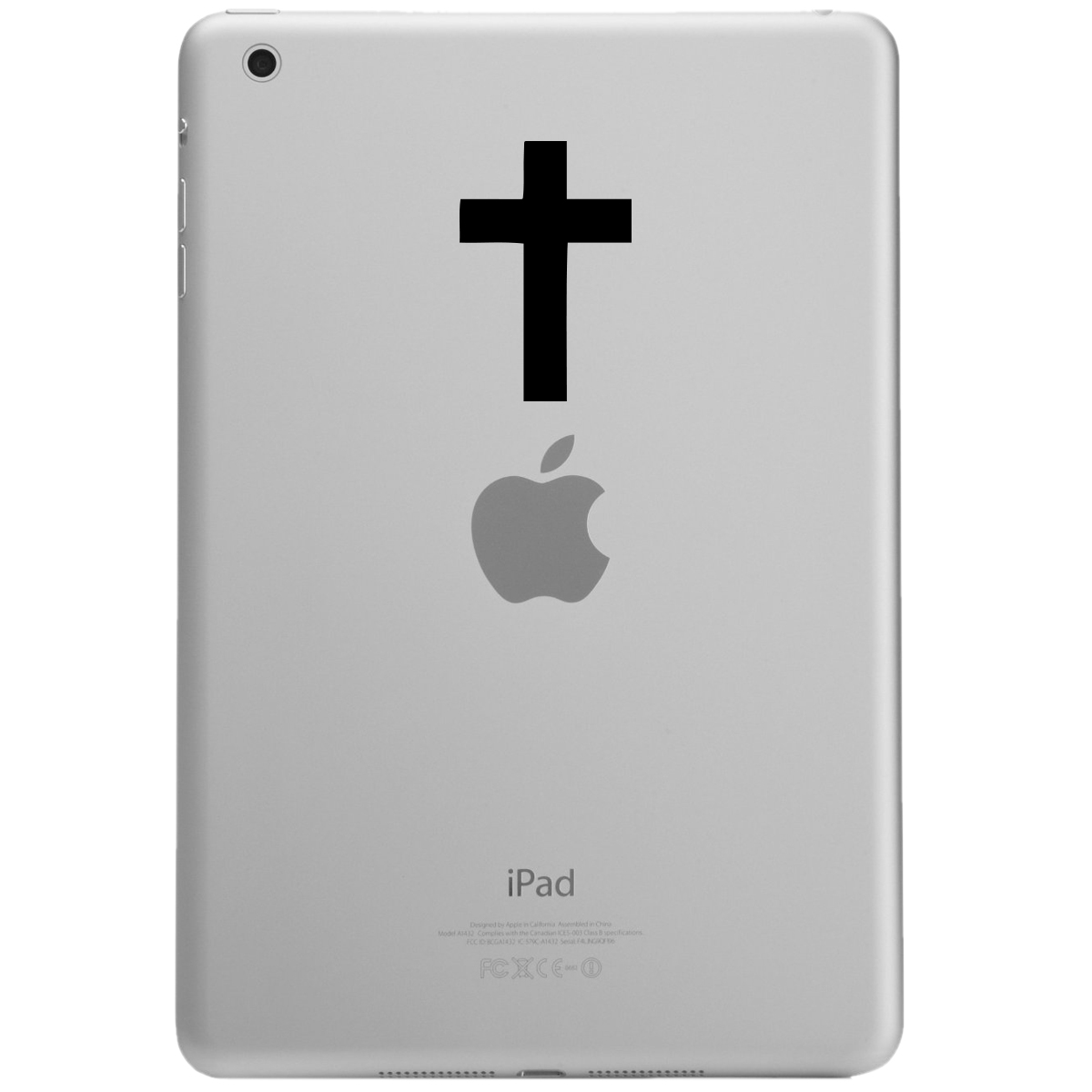 Religious Christian Cross Silhouette iPad Tablet Vinyl Sticker Decal