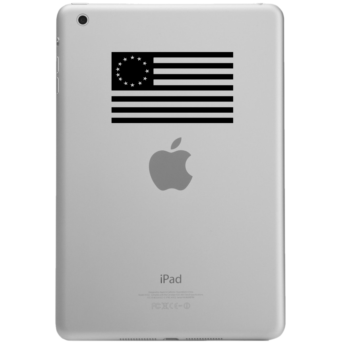 13 Colonies Vintage American Flag iPad Tablet Vinyl Sticker Decal