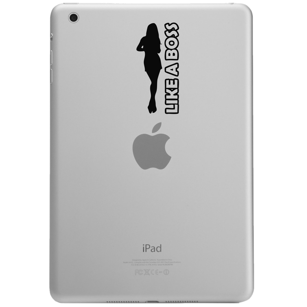 Like a Boss Girl Silhouette iPad Tablet Vinyl Sticker Decal