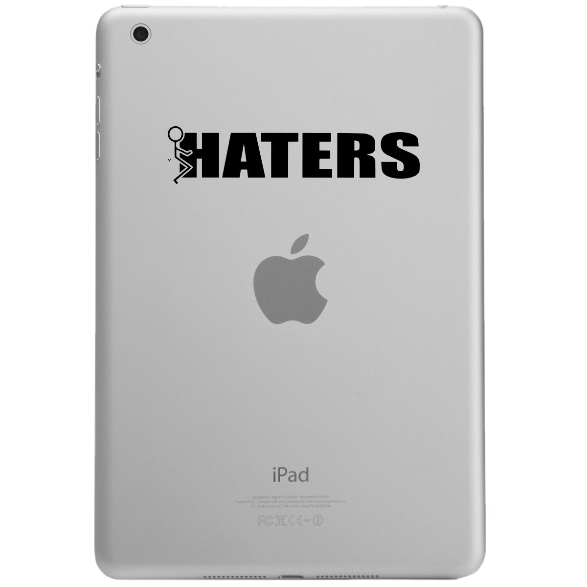 Funny Humping Stick Figure F*ck Haters iPad Tablet Vinyl Sticker Decal