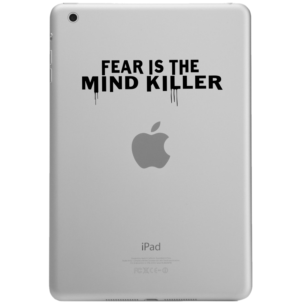 Fear is the Mind Killer Quote iPad Tablet Vinyl Sticker Decal