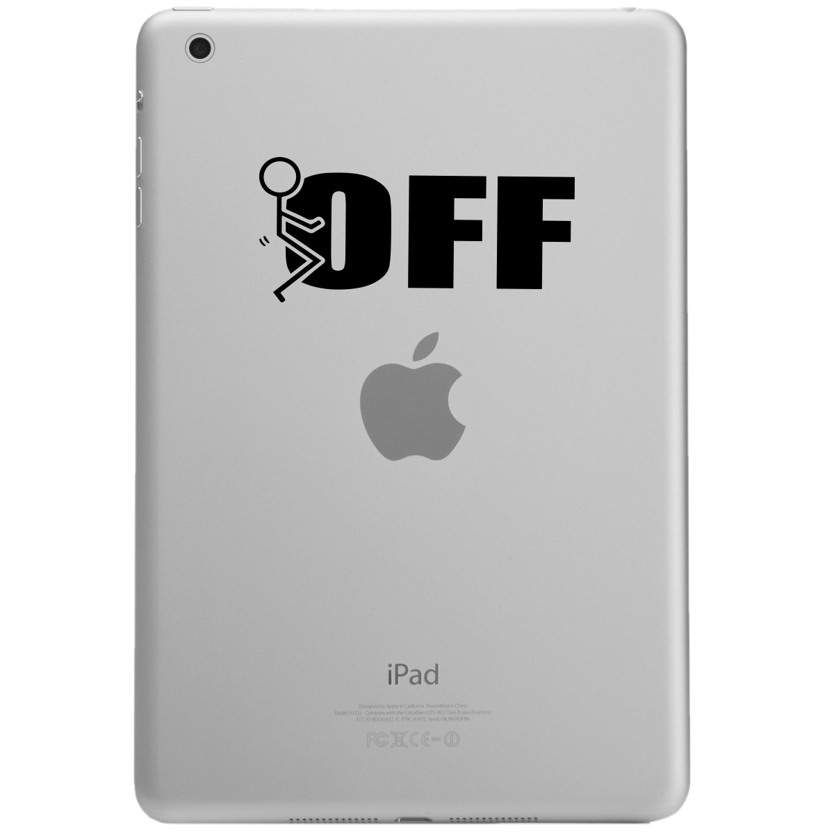 Funny Humping Stick Figure F*ck Off iPad Tablet Vinyl Sticker Decal