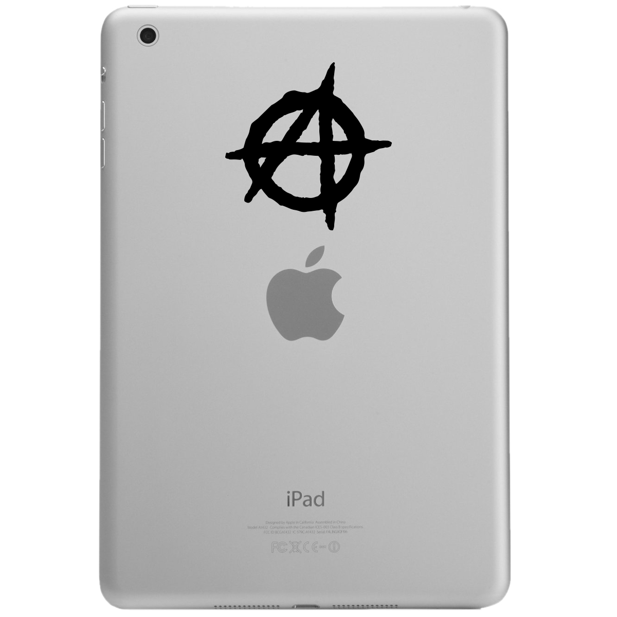 Anarchy Symbol Outline iPad Tablet Vinyl Sticker Decal
