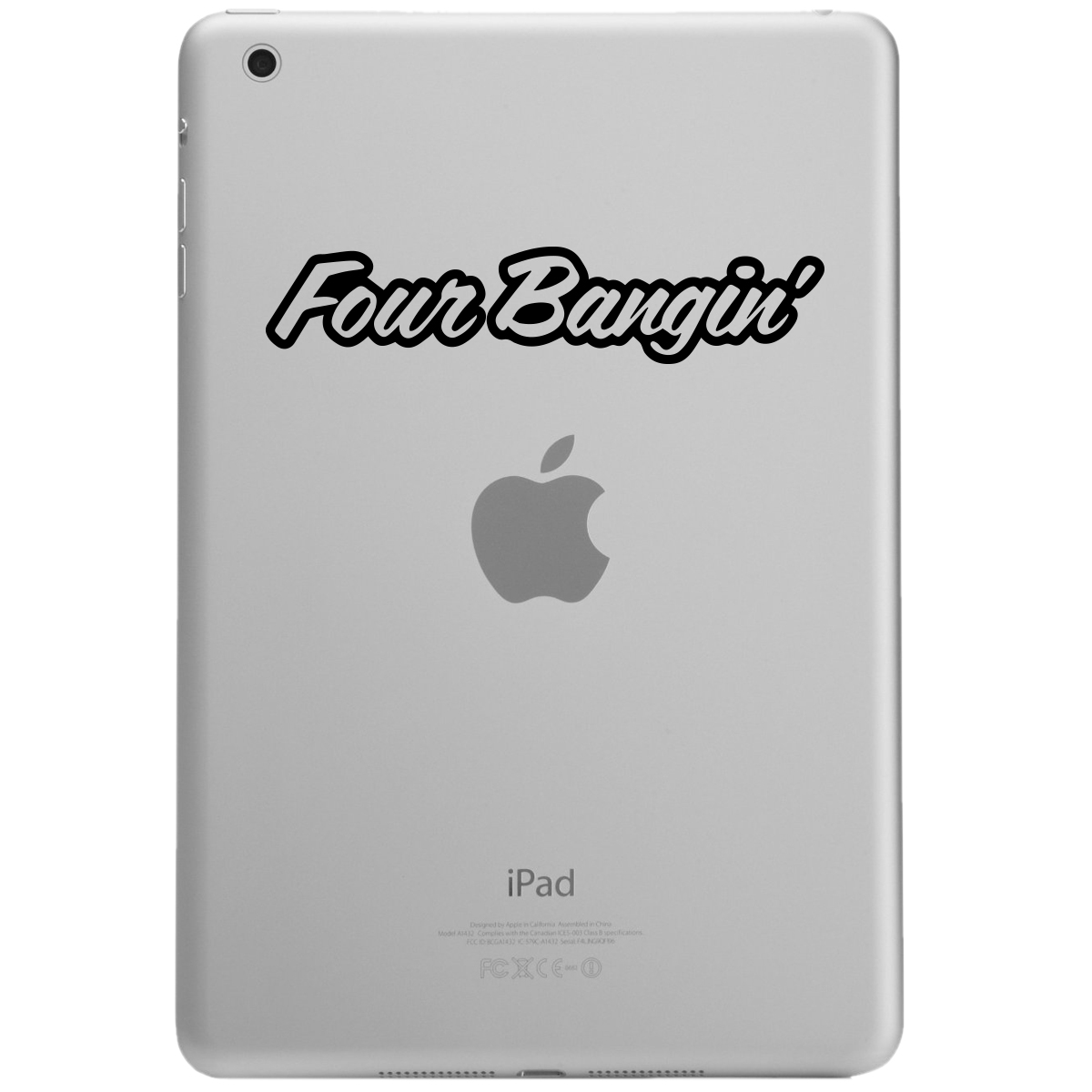 Four Bangin Engine 4 Cylinder JDM iPad Tablet Vinyl Sticker Decal