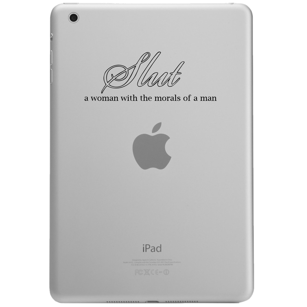 Funny Slut Definition Morals iPad Tablet Vinyl Sticker Decal