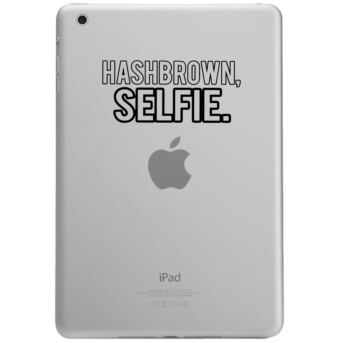 Hashbrown Selfie Funny iPad Tablet Vinyl Sticker Decal
