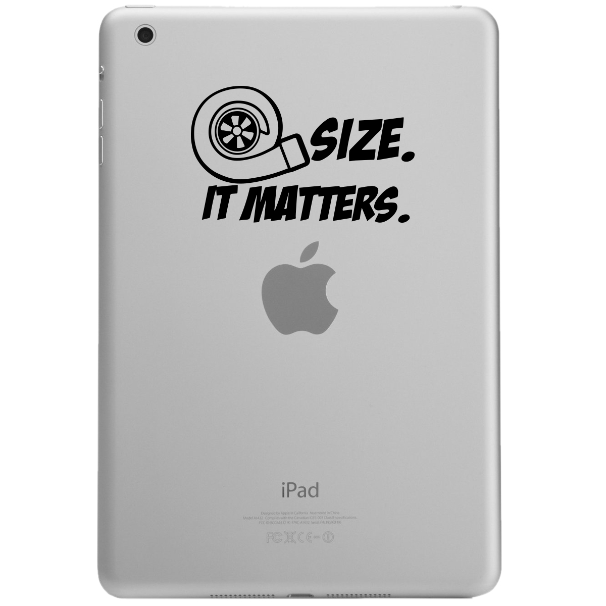 JDM Size Matters Turbo Boost iPad Tablet Vinyl Sticker Decal