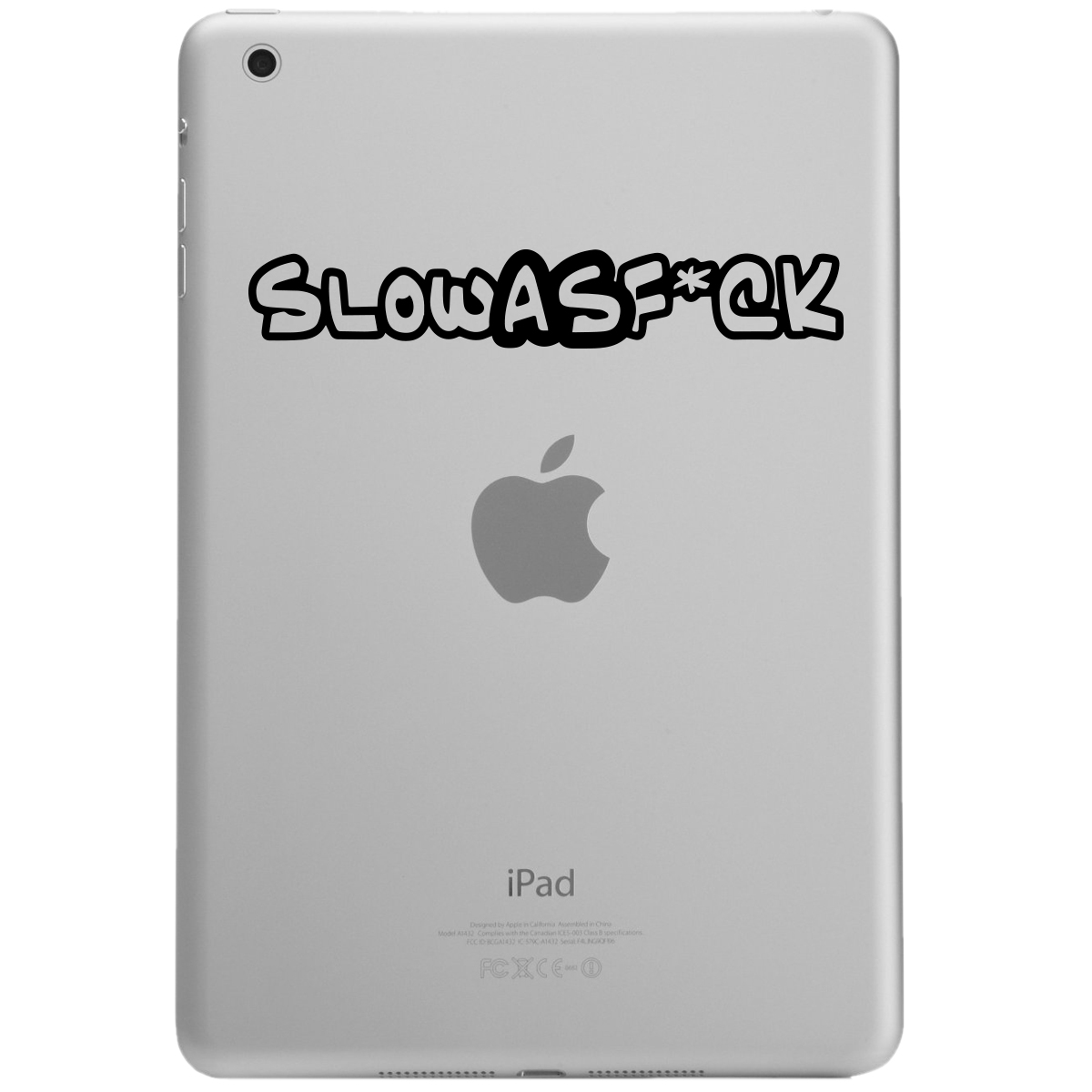 Funny JDM Slow as F*ck iPad Tablet Vinyl Sticker Decal