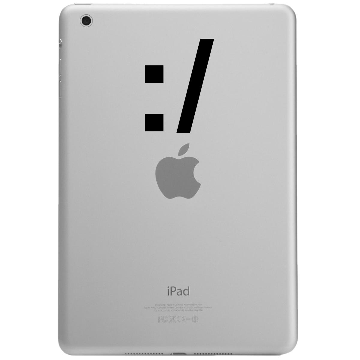 Straight Face Emoji Emoticon Symbol iPad Tablet Vinyl ...