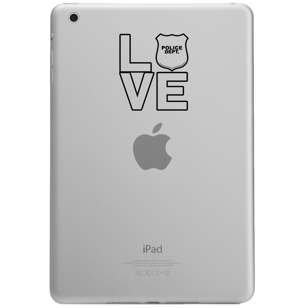 I Love the Police iPad Tablet Vinyl Sticker Decal