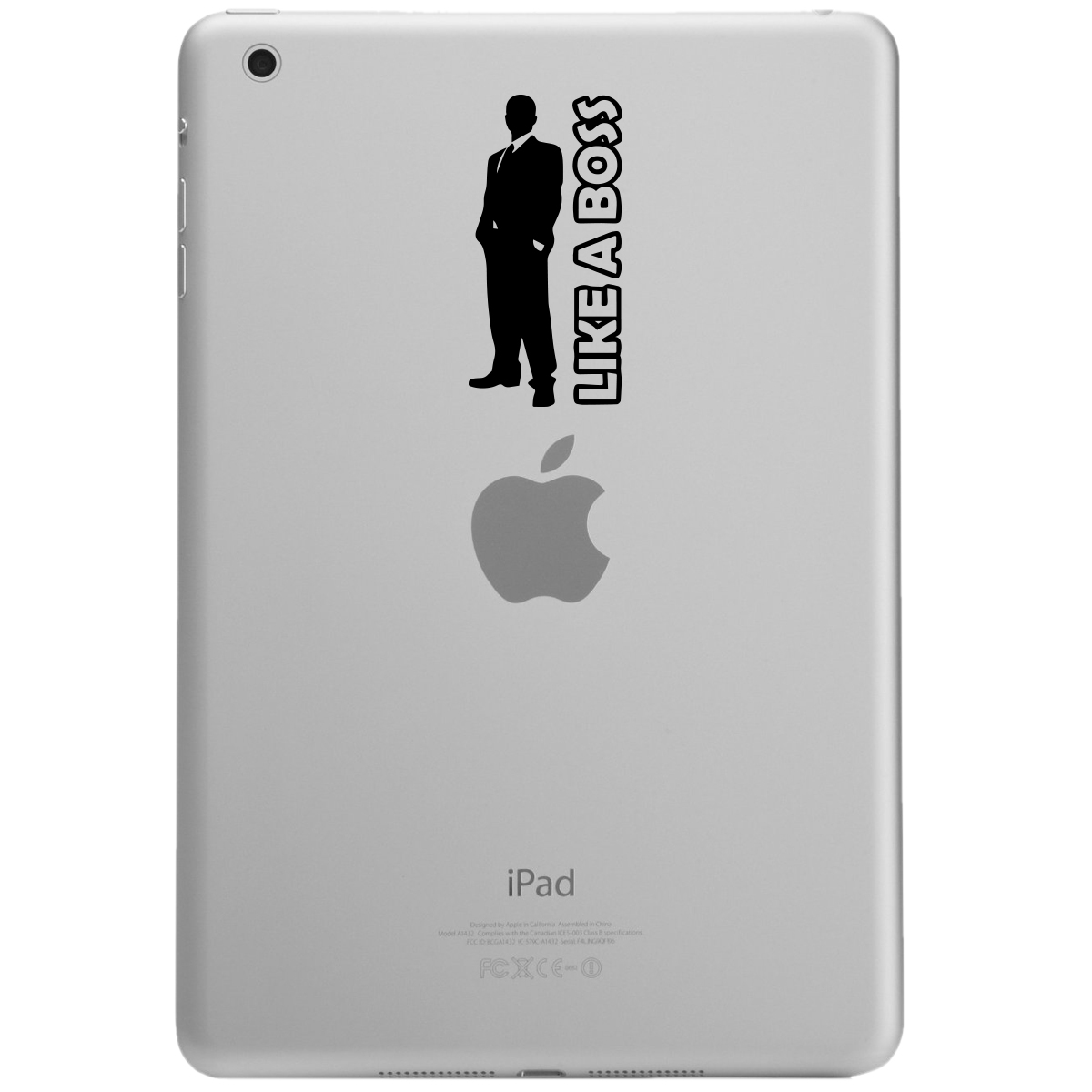 Like a Boss Guy Silhouette iPad Tablet Vinyl Sticker Decal