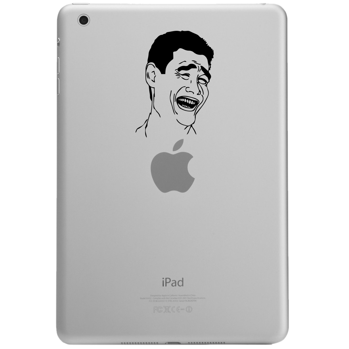 Yao Ming Bitch Please Meme Face iPad Tablet Vinyl Sticker Decal