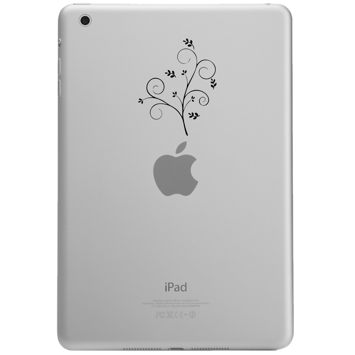 Pretty Floral Branch iPad Tablet Vinyl Sticker Decal