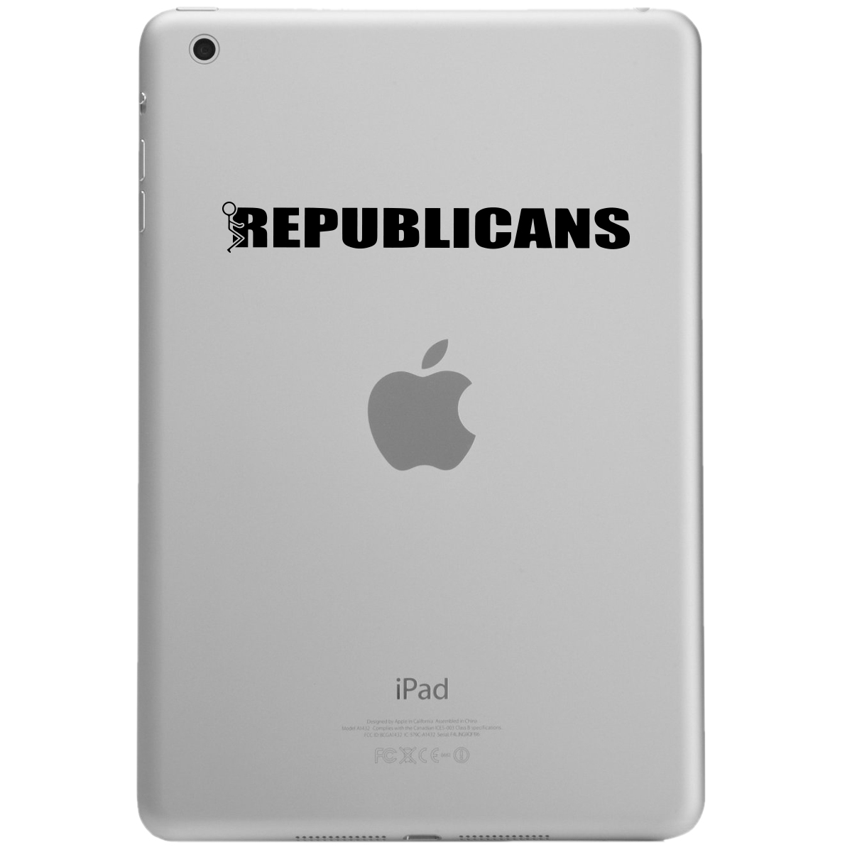 Funny Humping Stick Figure F*ck Republicans iPad Tablet Vinyl Sticker Decal