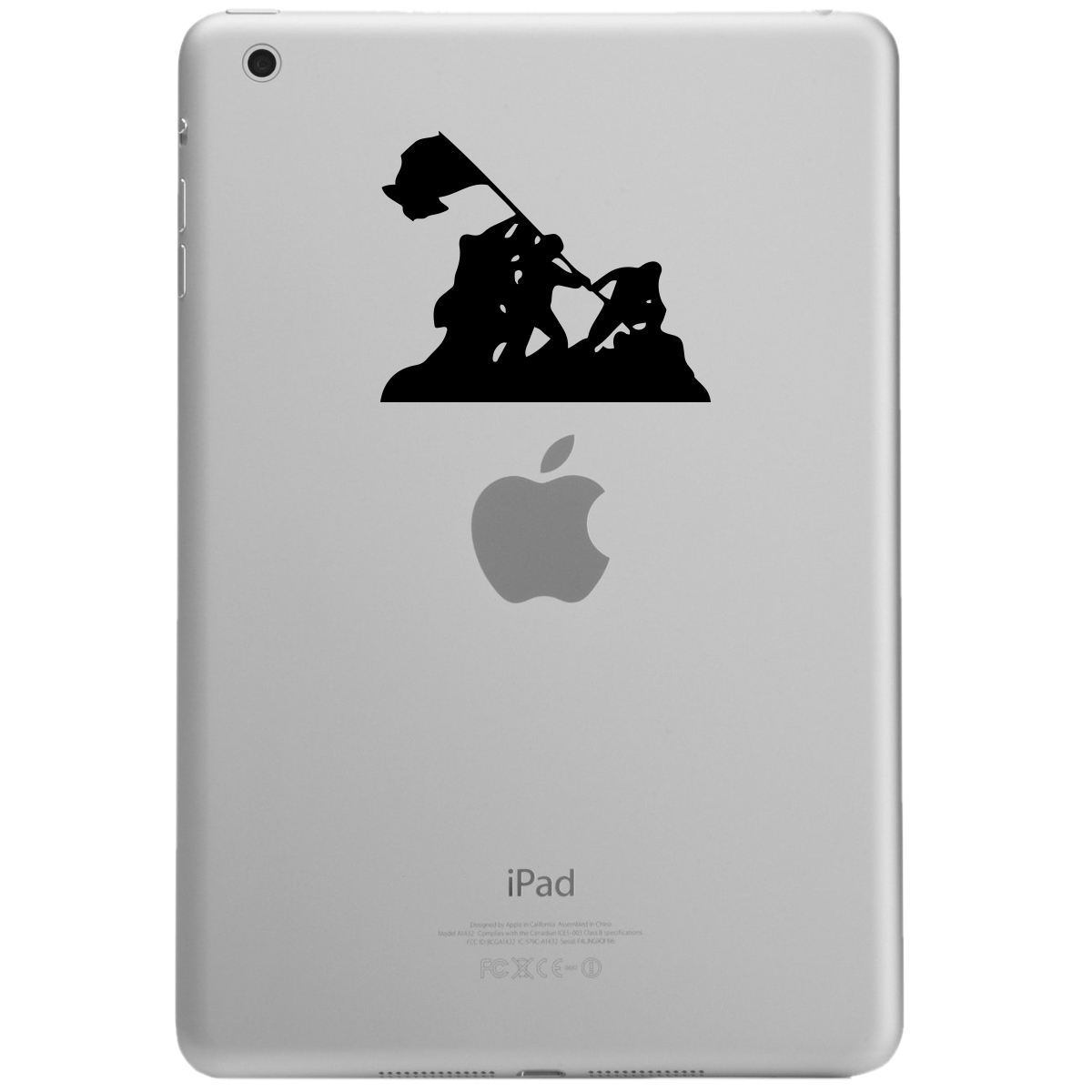 Iwo Jima WWII Silhouette iPad Tablet Vinyl Sticker Decal