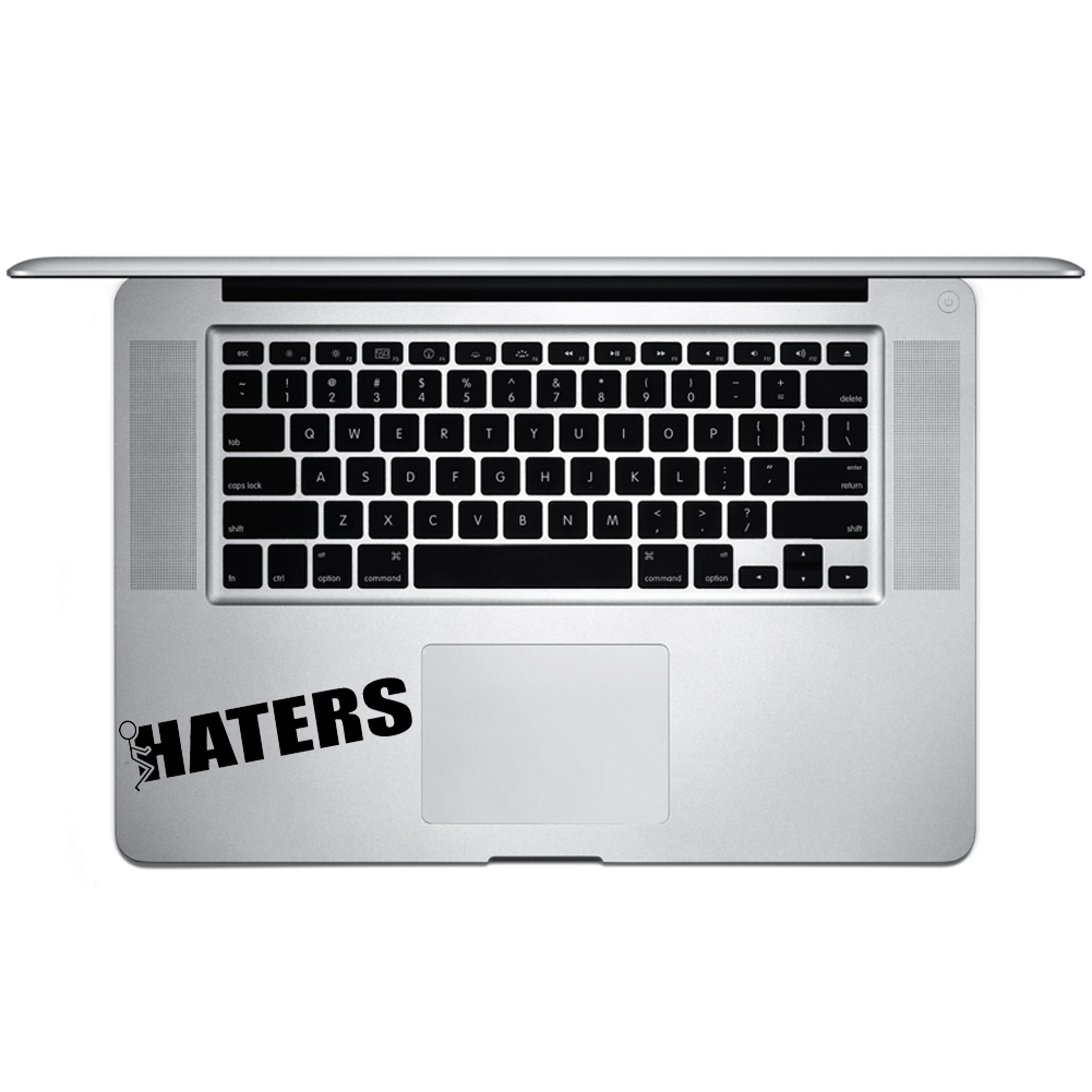 Funny Humping Stick Figure F*ck Haters Vinyl Sticker Laptop Keyboard Inside Corner iPhone Cell Decal
