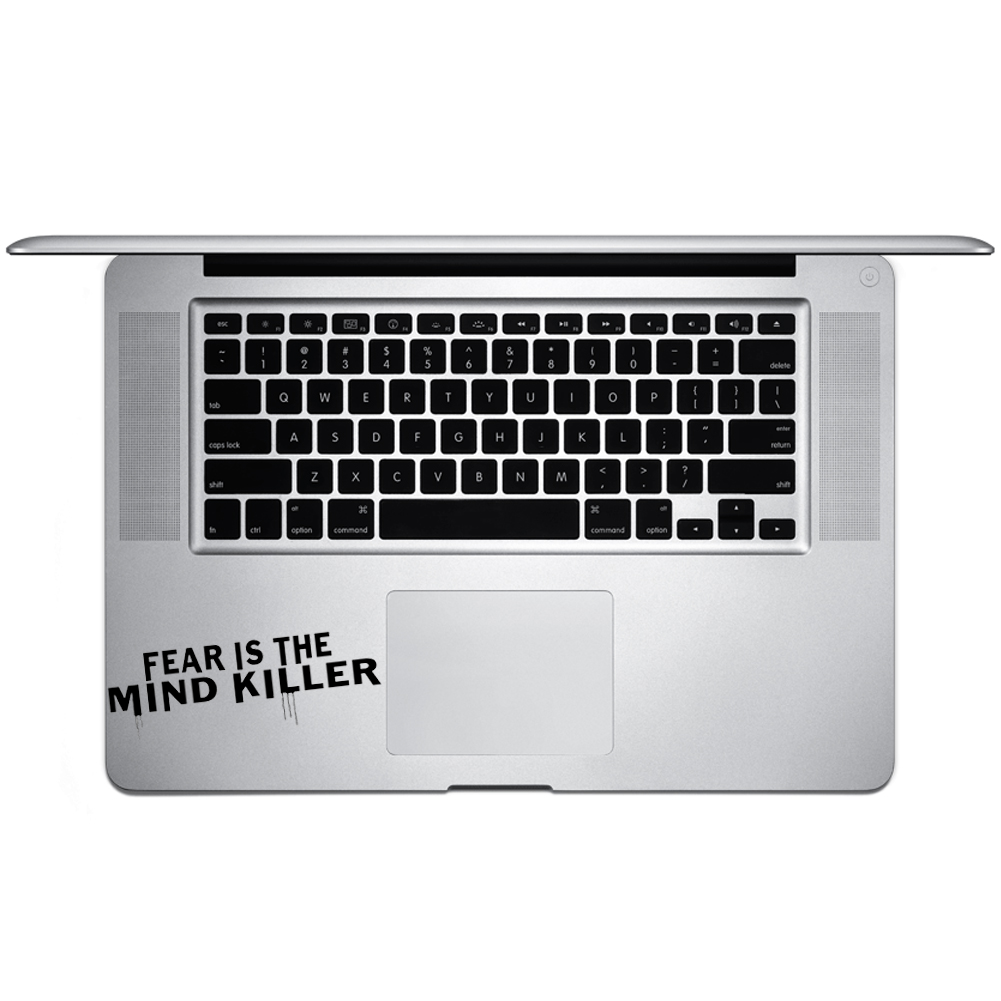 Fear is the Mind Killer Quote Vinyl Sticker Laptop Keyboard Inside Corner iPhone Cell Decal