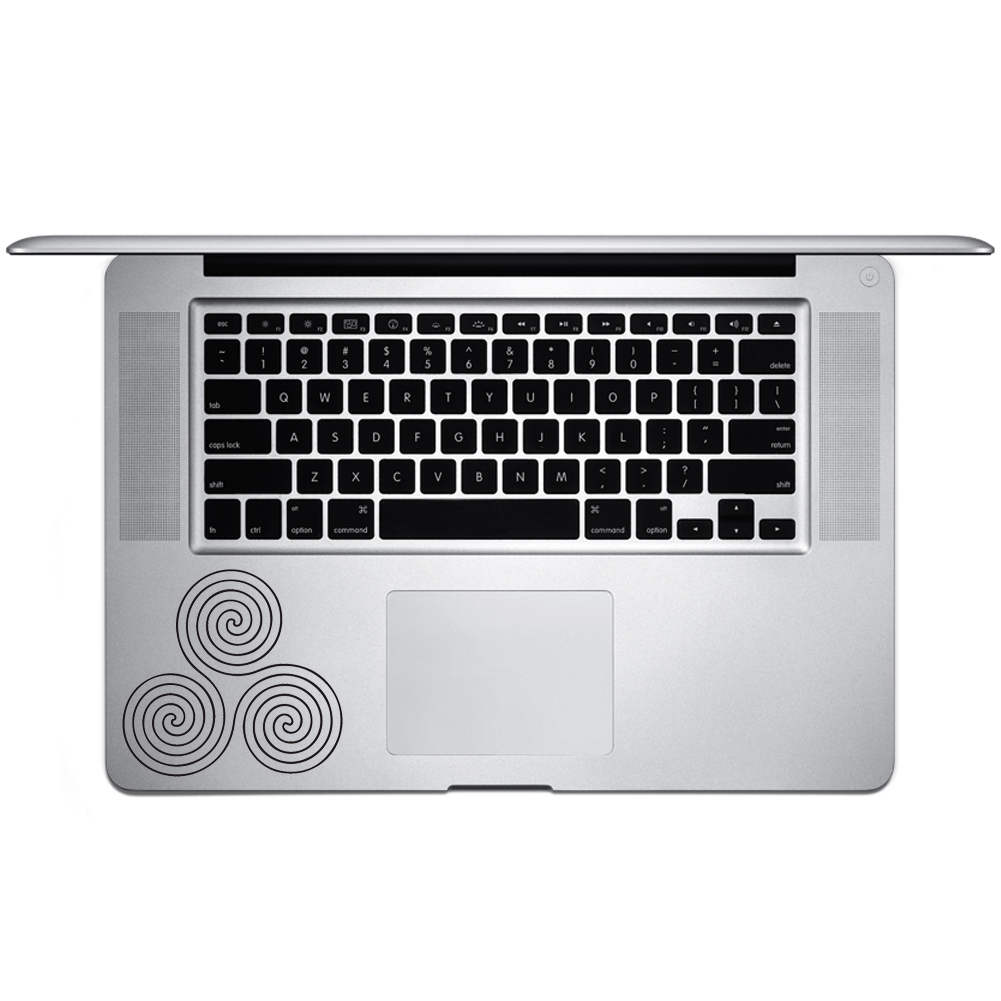 Celtic Circle Swirls Vinyl Sticker Laptop Keyboard Inside Corner iPhone Cell Decal