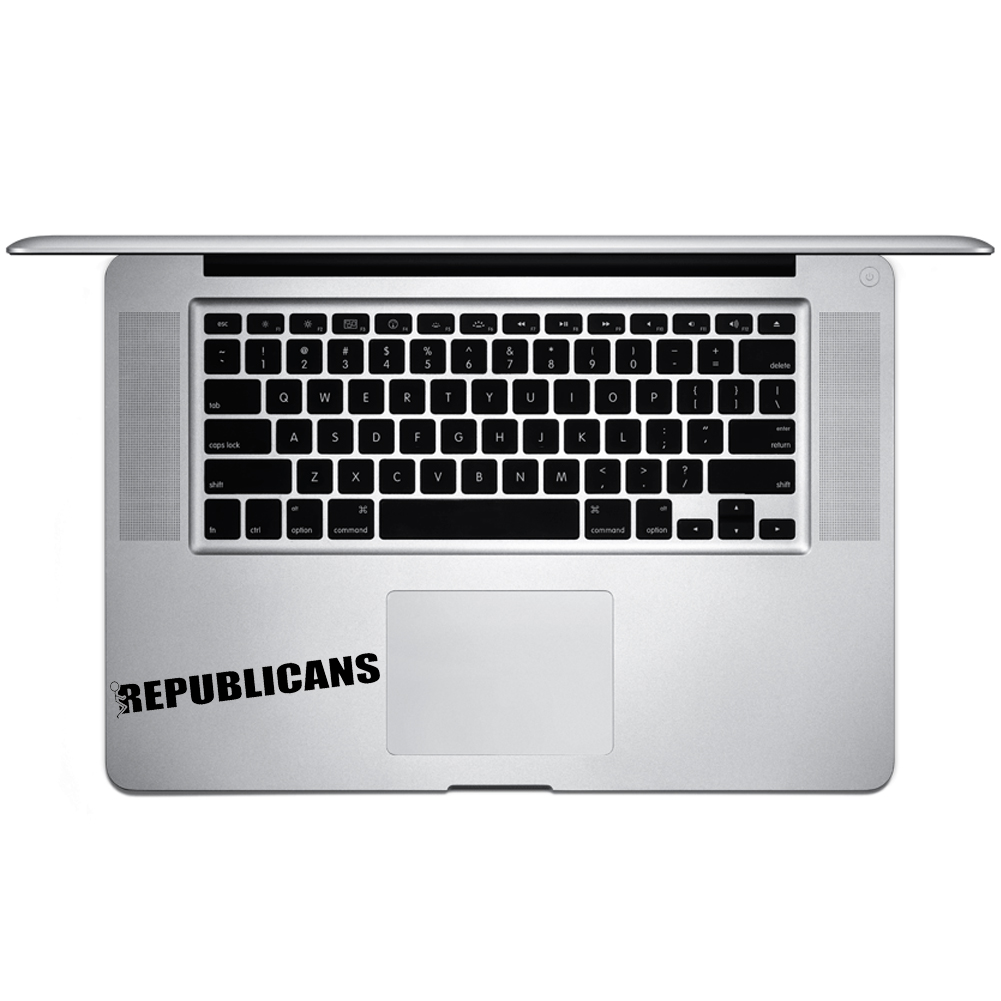 Funny Humping Stick Figure F*ck Republicans Vinyl Sticker Laptop Keyboard Inside Corner iPhone Cell Decal