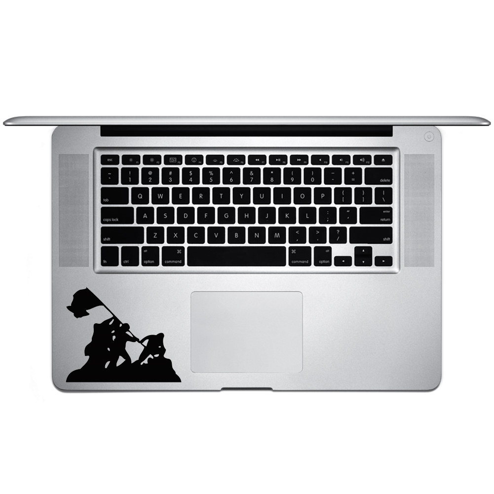 Iwo Jima WWII Silhouette Vinyl Sticker Laptop Keyboard Inside Corner iPhone Cell Decal