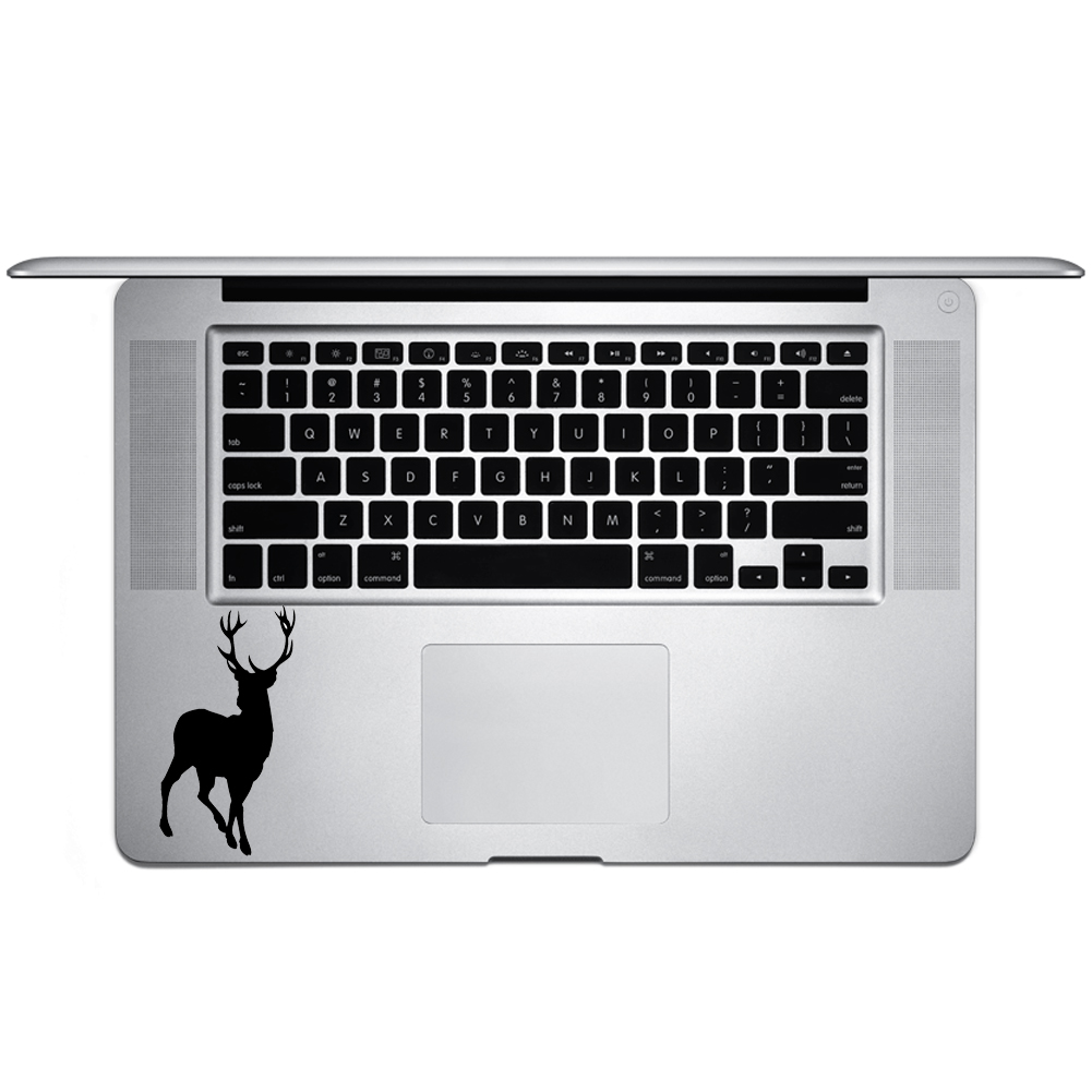 Hunting Deer Buck Silhouette Vinyl Sticker Laptop Keyboard Inside Corner iPhone Cell Decal