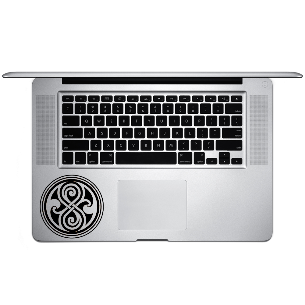 DW Inspired Time Lord Seal Vinyl Sticker Laptop Keyboard Inside Corner iPhone Cell Decal