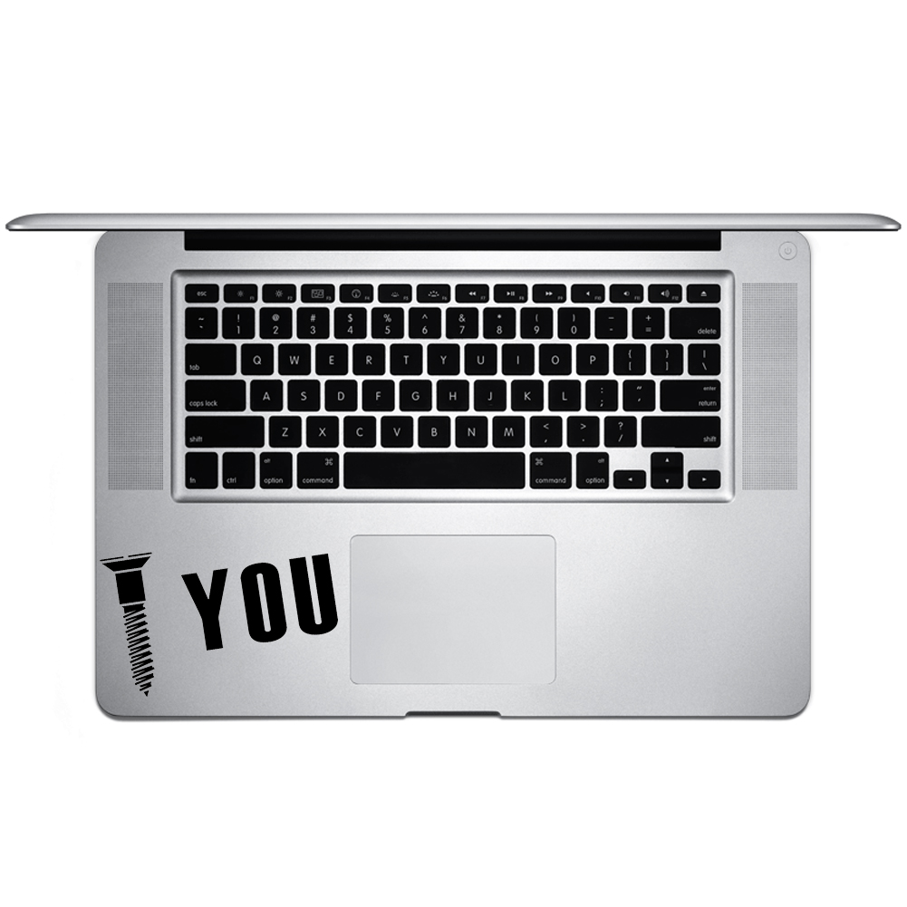 Screw You Funny Mechanic Joke JDM Vinyl Sticker Laptop Keyboard Inside Corner iPhone Cell Decal