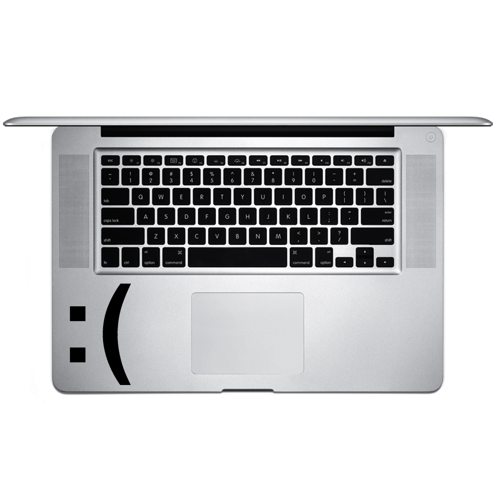 Sad Face Emoji Emoticon Symbol Vinyl Sticker Laptop Keyboard Inside