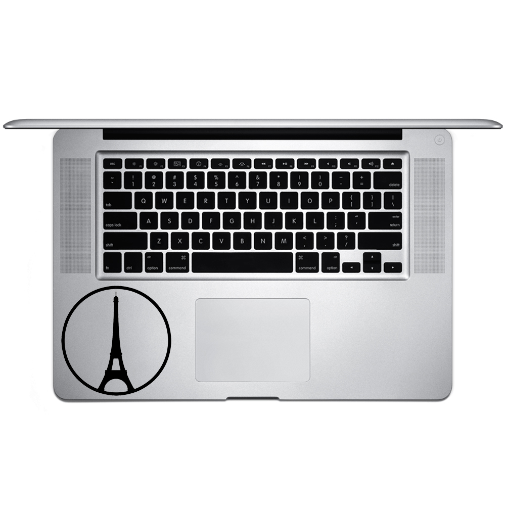 Eiffel Tower Peace Paris Symbol Vinyl Sticker Laptop Keyboard Inside Corner iPhone Cell Decal